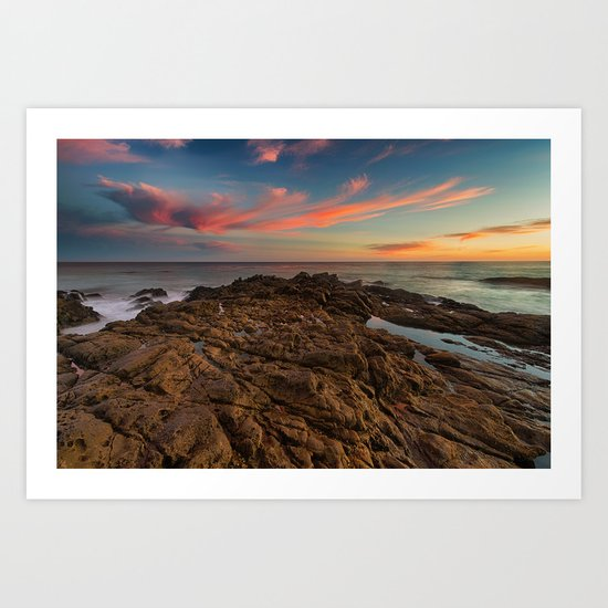 Light and the Tide Pools Art Print