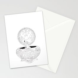 Anastasia Music Box Once upon a December Stationery Cards