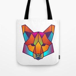 Fox | Geometric Colorful Low Poly Animal Set Tote Bag