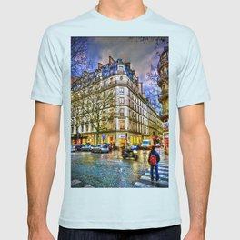 Rainy evening in Paris, France T-shirt