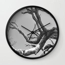 Driftwood Ladder B/W Wall Clock