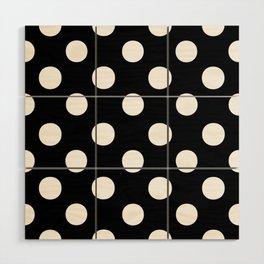 Polka Dots (White/Black) Wood Wall Art