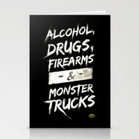 alcohol Stationery Cards featuring Alcohol, Drugs, Firearms & Monstertrucks by Tim Lute