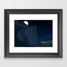 fairy landscape (at night) Framed Art Print