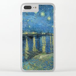 Van Gogh Starry Night Over the Rhone Clear iPhone Case