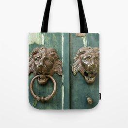 Lion heads of precious metal Tote Bag