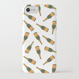 Champagne Bottle Pattern iPhone Case