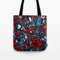 sketch Tote Bags featuring Sketch by Mikhail St-Denis