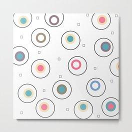 happy circles Metal Print