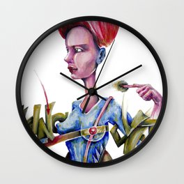 Red Moon that points eaten or spitted by the Symbolic Fish of Fate. Wall Clock