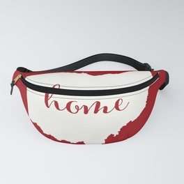 Ohio is Home - White on Red Fanny Pack