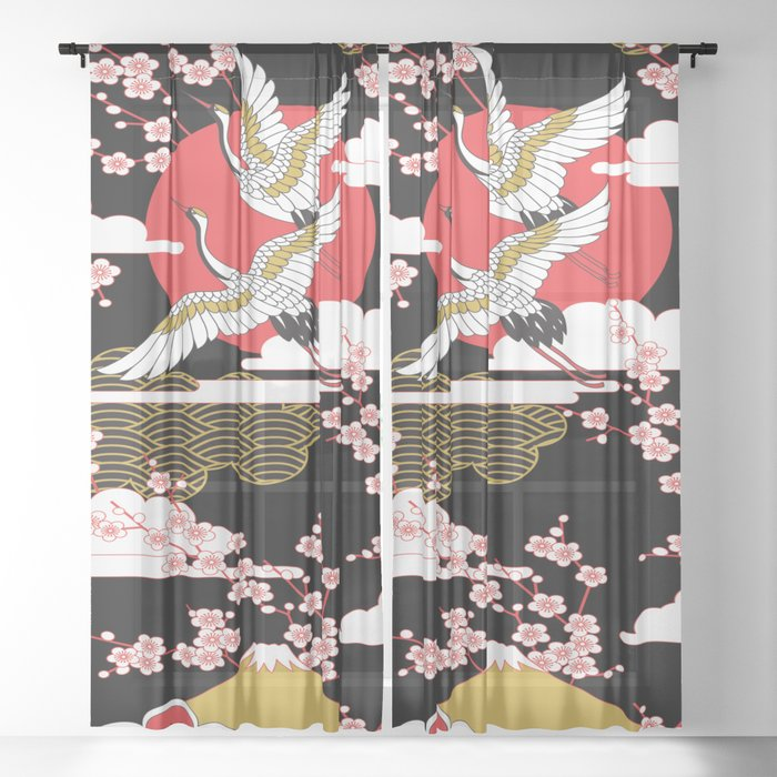 Asian Design 2 Sheer Curtain By Gypsykisspotography