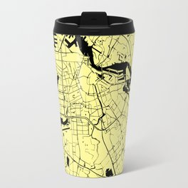 Amsterdam Yellow on Black Street Map Travel Mug