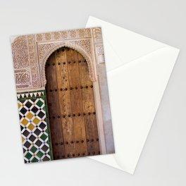 Arabic Wooden Door Stationery Cards