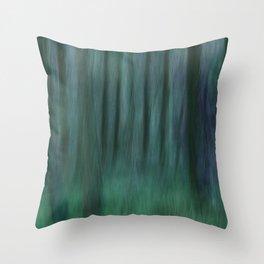 Painted Trees 2 Aqua Throw Pillow