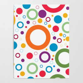 Circle and ring design Poster