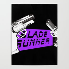 Time to die Version Neon Purple Poster