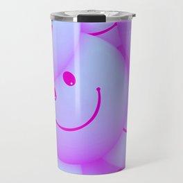 Pink Smileys Travel Mug