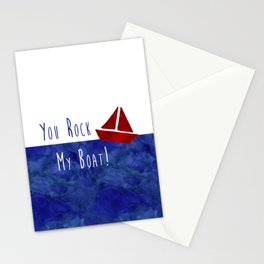 Your Rock My Boat Stationery Cards