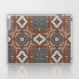 Gray Brown Taupe Beige Tan Black Hip Orient Bali Art Laptop & iPad Skin