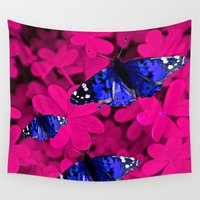 butterfly Wall Tapestries featuring  Butterfly  by Saundra Myles