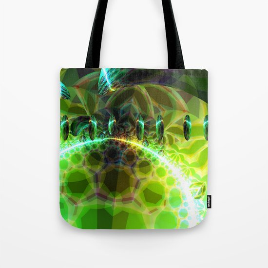 Dawn of Time – Abstract Lime & Gold Emerge Tote Bag