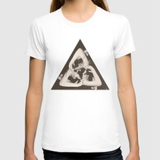 TRIANGLE Womens Fitted Tee SMALL White