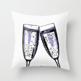Champagne wishes and caviar dreams Throw Pillow