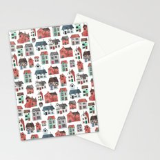Watercolour Houses Stationery Cards