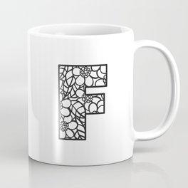 Letter F Coffee Mug