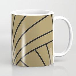 Diamond Series Floral Burst Charcoal on Gold Coffee Mug