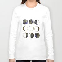moon phases Long Sleeve T-shirts featuring Phases of the Moon by Lindsay Milgrim