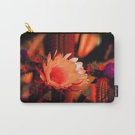 """Susan's Cactus Flower Dream #130"" Carry-All Pouch"