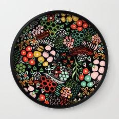 Winter Bouquet Wall Clock