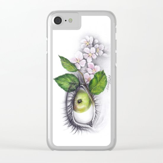 Apple of my eye Clear iPhone Case