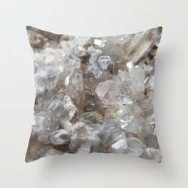Phantom Crystal Cluster Throw Pillow