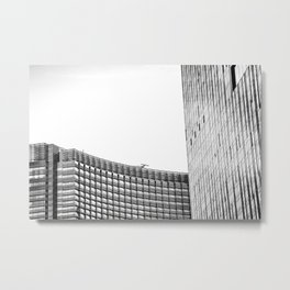modern style buildings at Las Vegas, USA in black and white Metal Print