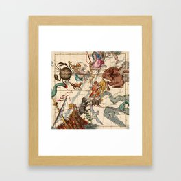 Constellation Chart 1693c Framed Art Print