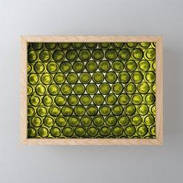 bottle tops pattern Framed Mini Art Print