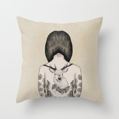 something flowery  Throw Pillow