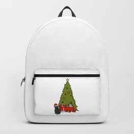 Cute Cat and Christmas Tree Backpack