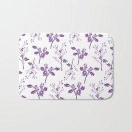 Watercolor Purple Berry Pattern Bath Mat