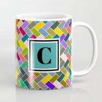 monogram Mugs featuring C Monogram by mailboxdisco