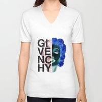 givenchy V-neck T-shirts featuring (Limited Edition) Givenchy X-Ray by Javier Camacho