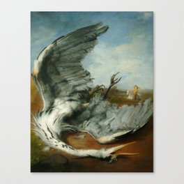The wounded heron -  George Frederic Watts Canvas Print