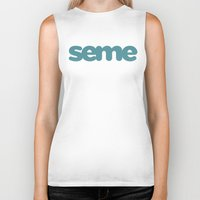 yaoi Biker Tanks featuring Seme by Clara Hollins
