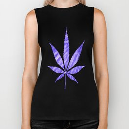 Weed : High Times Purple Blue Biker Tank