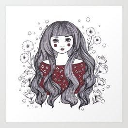 Blossom Girl Art Print