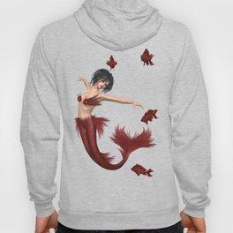 Red Mermaid Hoody