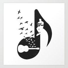 Musical  - Acoustic Guitar Art Print